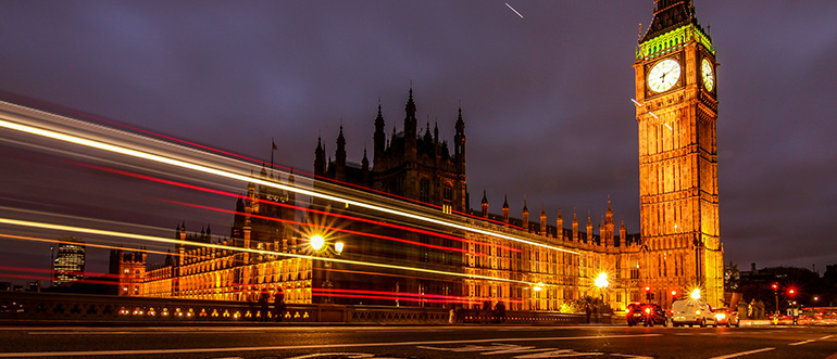 Westminster Palace & Big Ben London