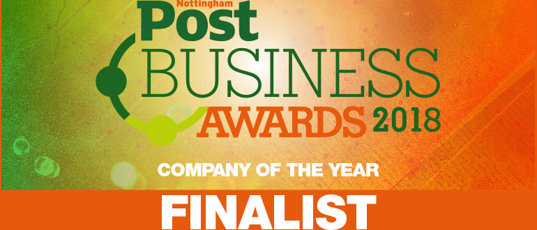 Nottingham Post Business Awards 2018 Company of The Year finalist graphic